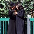 """Exclusif - Ginnifer Goodwin enceinte, Rebecca Mader sur le tournage de la dernière saison de la série«""""Once Upon A Time"""" à Vancouver, le 29 mars 2016"""