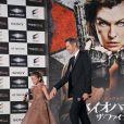 """Paul W.S. Anderson et sa fille Ever Andersonlors de la première mondiale de """"Resident Evil: The Final Chapter"""" à Tokyo, le 13 décembre 2016."""