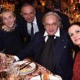 Carla Sozzani, Carlo Capasa, Diego Della Valle et Livia Firthau dîner de Noël de l'Institut Européen d'Oncologie, de la fondation de l'institut (Fondazione IEO CCM) à la Villa Necchi Campiglio.Milan le 13 décembre 2016.