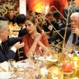 Diego Della Valle, Livia Firth et Marco Tronchetti Proveraau dîner de Noël de l'Institut Européen d'Oncologie de la fondation de l'institut (Fondazione IEO CCM) à la Villa Necchi Campiglio.Milan le 13 décembre 2016.