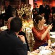 Livia Firth et Marco Tronchetti Proveraau dîner de Noël de l'Institut Européen d'Oncologie, de la fondation de l'institut (Fondazione IEO CCM) à la Villa Necchi Campiglio.Milan le 13 décembre 2016.