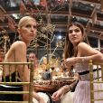 Karolína Kurkova et Bianca Brandolini d'Addaau dîner de Noël de l'Institut Européen d'Oncologie, au profit de la fondation de l'institut (Fondazione IEO CCM) à la Villa Necchi Campiglio. Milan le 13 décembre 2016.