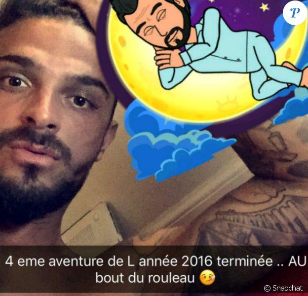 """Julien des """"Marseillais"""" sur Snapchat, dimanche 18 décembre 2016"""