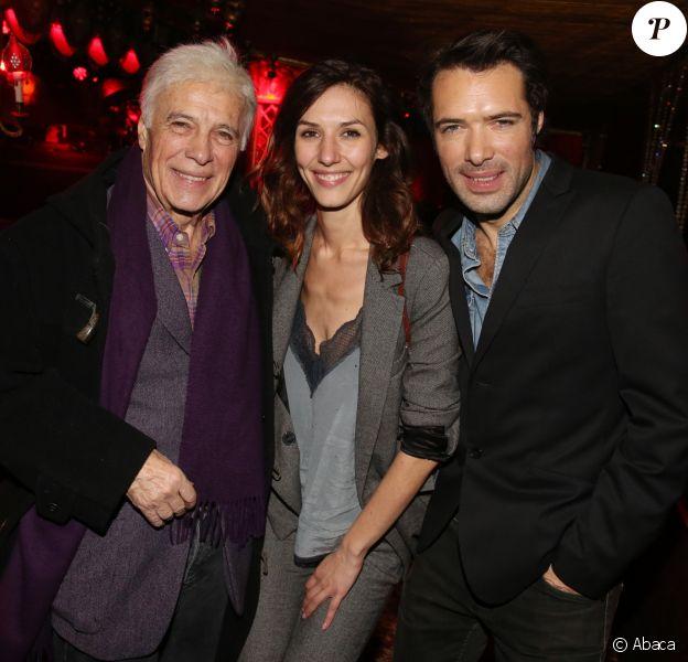 """Guy Bedos, Doria Tillier et Nicolas Bedos - After-party du film """"Mr & Mme Adelman"""" au Raspoutine à Paris, le 19 décembre 2016."""