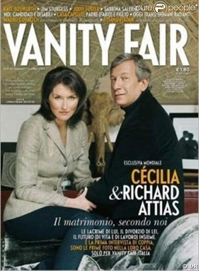 Cecilia Attias et Richard Attias en couverture de Vanity Fair, pour leur mariage