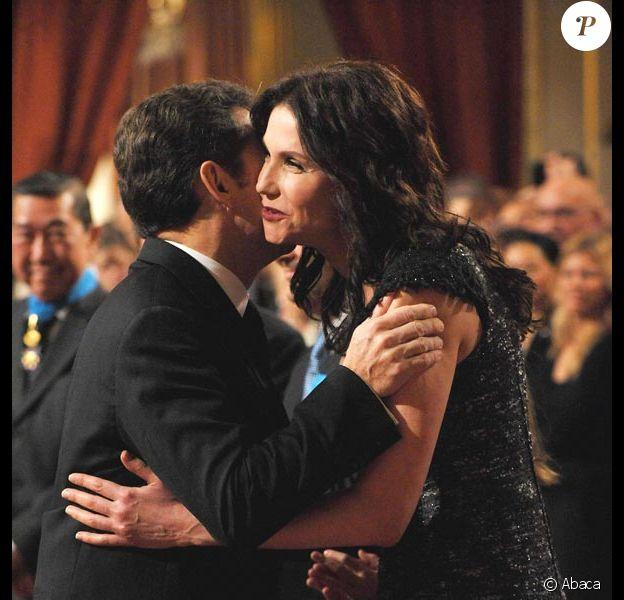 Nicolas Sarkozy et Alessandra Martines
