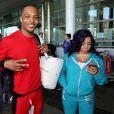 """""""Exclusif - Le rappeur T.I., alias Clifford Joseph Harris Jr arrive à l'aéroport sur la Gold Coast dans le Queensland le 19 novembre 2015 accompagné de sa femme Tameka Tiny Cottle"""""""
