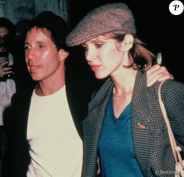 Carrie Fisher avec son ancien mari Paul Simon en 1983