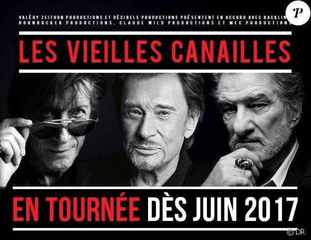 Les Vieilles Canailles se retrouveront sur scène pour une tournée de 14 dates entre juin et juillet 2017.
