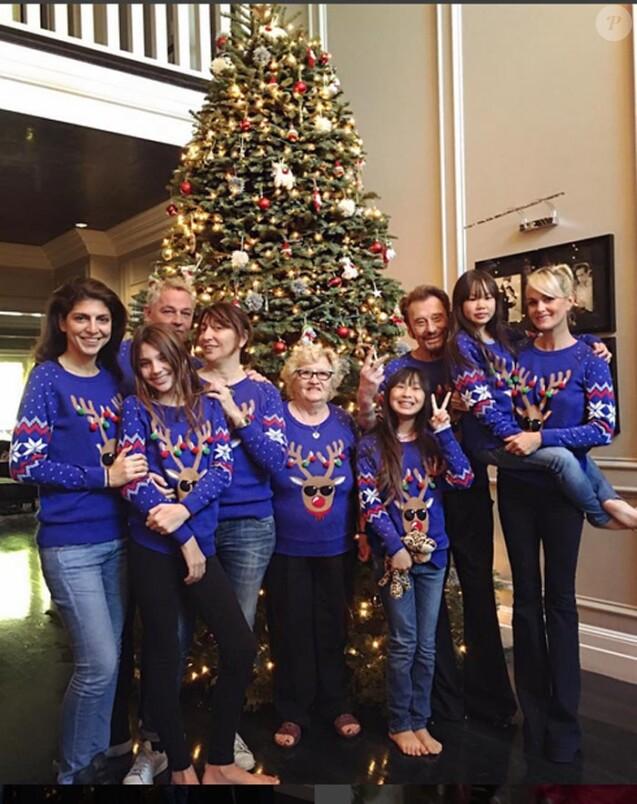 Les Hallyday ont célébré Noël avec tous leurs amis les plus proches dans leur maison de Los Angeles, décembre 2016.