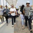 La chanteuse Sia se cache des photographes alors qu'elle arrive au 72ème festival du film de Venise (la Mostra) avec son mari Erik Anders Lang, le 3 septembre 2015.