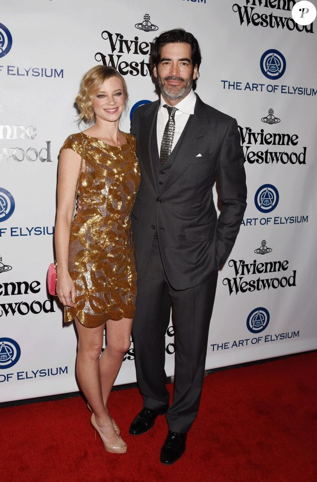 "Amy Smart et son mari Carter Oosterhouse au 9 ème Gala Annuel ""The Art Of Elysium"" à Culver City le 9 janvier 2016."