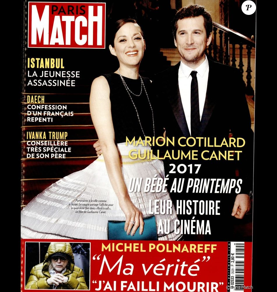 couverture du magazine paris match en kiosques le 5 janvier 2017. Black Bedroom Furniture Sets. Home Design Ideas