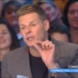 """""""Matthieu Delormeau dans """"Touche pas à mon poste"""" sur C8, le 4 janvier 2017."""""""