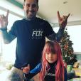 Carey Hart et sa fille Willow, qu'il partage avec la chanteuse Pink. Photo publiée le 1er janvier 2017
