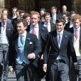 Le prince Harry lors du mariage de Thomas van Straubenzee et Lady Melissa Percy à Northumbria en Angleterre, le 21 juin 2013
