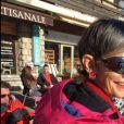 Isabelle Morini-Bosc au ski, à  Montgenèvre,  17 décembre 2016, sur Twitter