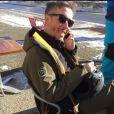 Jean-Luc Lemoine souriant au ski, à  Montgenèvre,  Twitter, 17 décembre 2016