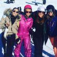Capucine Anav, Enora Malagré, Valérie Bénaïm, Caroline Ithurbide et Isabelle Morini-Bosc au ski, à  Montgenèvre,  18 décembre 2016, sur Instagram