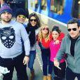 Mokhtar, Jean-Michel Maire, Caroline Ithurbide, Enora Malagré, Capucine Anav et Benjamin Castaldi au ski, à  Montgenèvre  16 décembre 2016, Instagram