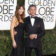 Sylvester Stallone et sa femme Jennifer Flavin - 74e cérémonie annuelle des Golden Globe Awards à Beverly Hills, le 8 janvier 2017. © CPA/Bestimage