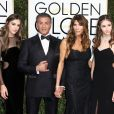 Scarlet Stallone, Jennifer Flavin, Sylvester Stallone, Sistene Stallone, Sophia Stallone - 74e cérémonie annuelle des Golden Globe Awards à Beverly Hills. Le 8 janvier 2017
