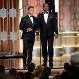Sylvester Stallone et Carl Weathers - Show lors de la 74e cérémonie annuelle des Golden Globe Awards à Beverly Hills, Los Angeles, Californie, Etats-Unis, le 8 janvier 2017. © HFPA/Zuma Press/Bestimage