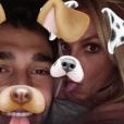 Britney Spears et son chéri Sam Asghari. Photo publiée sur Instagram le 9 janvier 2016