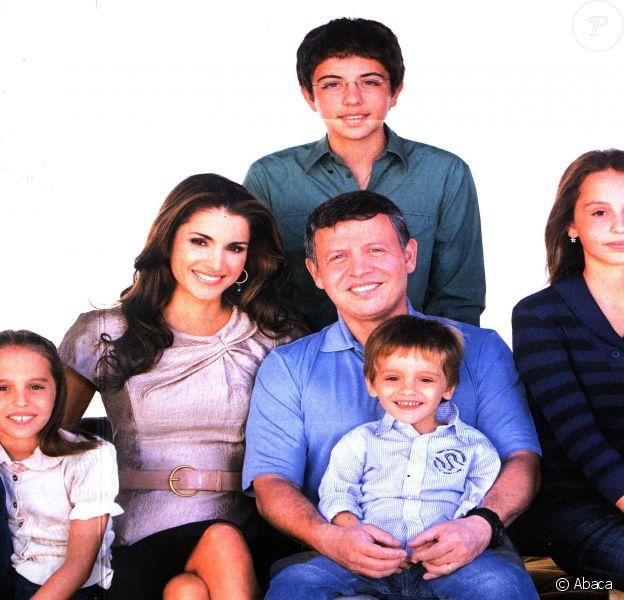 Carte de voeux de la famille de Jordanie