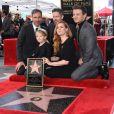 """Amy Adams, son compagnon Darren Le Gallo, leur fille Aviana, Denis Villeneuve et Jeremy Renner - Amy Adams reçoit son étoile sur le célèbre """"Walk of Fame"""" à Hollywood, Los Angeles, Californie, Etats-Unis, le 11 janvier 2017."""