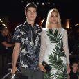 Will Peltz et sa petite amie Kenya Kinski-Jones au défilé de mode Dolce & Gabbana à Milan, le 18 juin 2016.