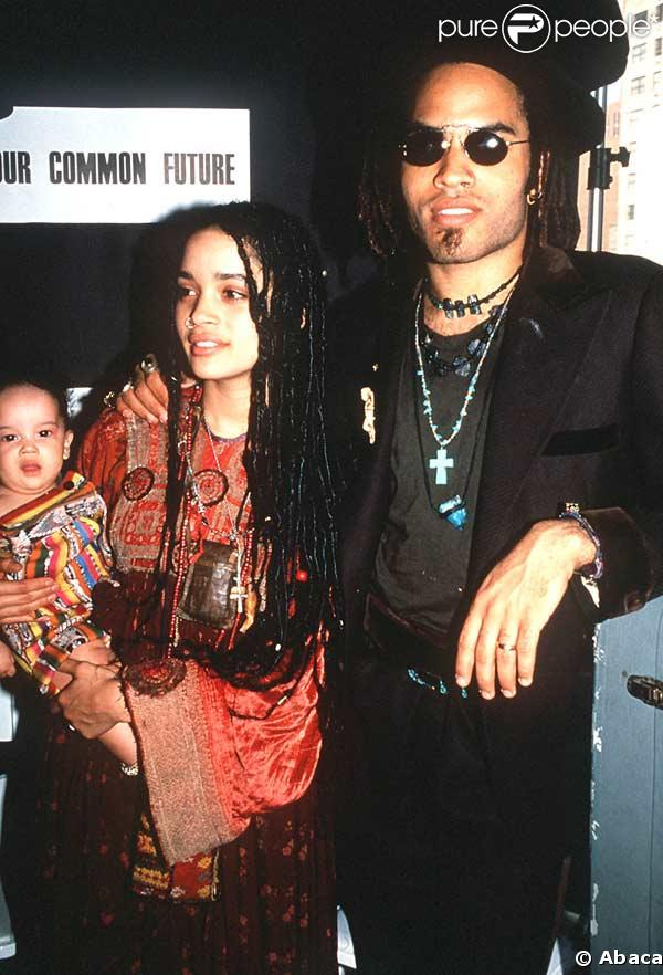 lenny kravitz lisa bonet photos