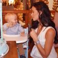 Jade Foret célébrant les 1 an de son fils Nolan le 15 janvier 2017