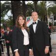 """Laure Manaudou et Frédérick Bousquet - Montée des marches du film """"La princesse de Montpensier"""", 63e festival de Cannes, le 16 mai 2010."""