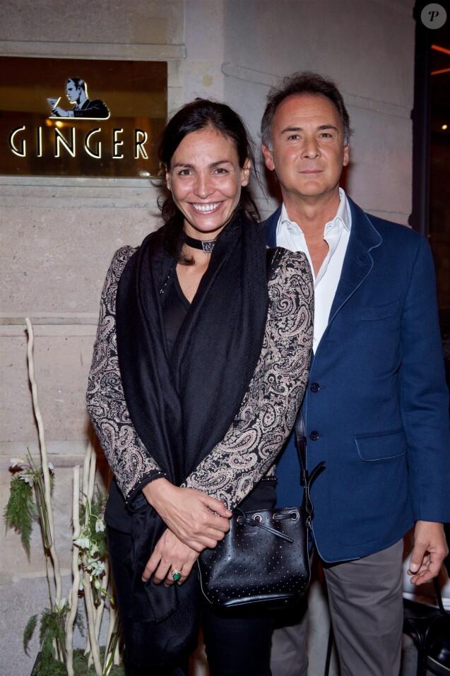 Exclusif - Michele Alfano et sa compagne Inés Sastre - Inauguration du nouveau restaurant Ginger suivie des 50 ans du Raspoutine à Paris, le 6 novembre 2015. © Julio Piatti/Bestimage