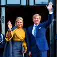 Le roi Willem-Alexander des Pays-Bas et la reine Maxima présidaient le 17 janvier 2017 à la réception du nouvel an en l'honneur des instances nationales au palais royal à Amsterdam.