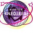 Affiche du spectacle des Enfoirés, 2017 : Mission Enfoirés.