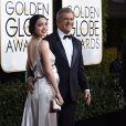 Rosalind Ross (enceinte) et son compagnon Mel Gibson - 74ème cérémonie annuelle des Golden Globe Awards à Beverly Hills. Le 8 janvier 2017