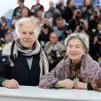 """Jean-Louis Trintignant et Emmanuelle Riva - Photocall du film """"Amour"""" lors du 65e festival de Cannes, le 20 mai 2012."""