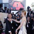 Uma Thurman et Arpad Busson lors de la cérémonie de clôture du Festival de Cannes 2013 avec la projection du film Zulu. Le couple a eu en 2012 une fille, Luna.