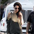 Exclusif - George Clooney reçoit la visite de sa femme Amal Alamuddin Clooney sur le tournage de 'Suburbicon' à Los Angeles, le 4 octobre 2016