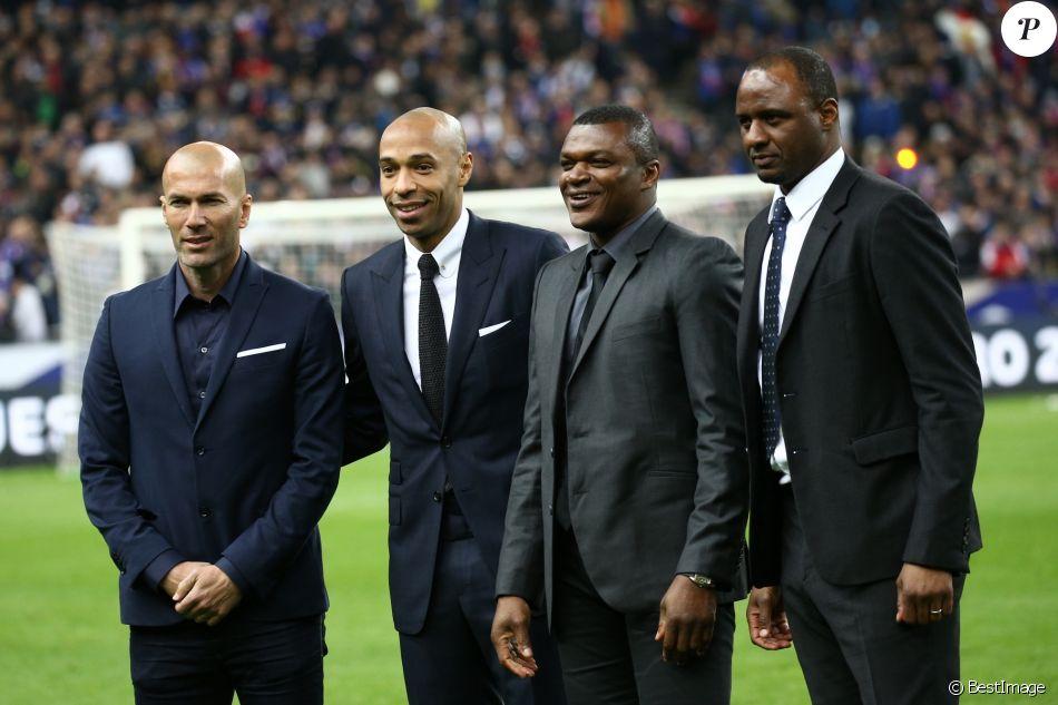 Zin dine zidane thierry henry marcel desailly patrick - Zidane coupe du monde 1998 ...