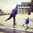 Novak Djokovic et sa femme Jelena, parents d'un petit Stefan né en octobre 2014, attendraient leur 2e enfant pour le mois d'août 2017 selon le tabloïd serbe  Blic . Photo Instagram partagée en 2016 par Jelena, folle de ses deux hommes.