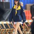 Bella Hadid - Les célébrités à Venice avant le défilé de mode Tommy Hilfiger à Los Angeles, le 8 février 2017