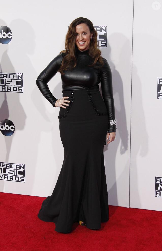 """Alanis Morissette à la 43ème cérémonie annuelle des """"American music awards"""" à Los Angeles le 23 novembre 2015."""