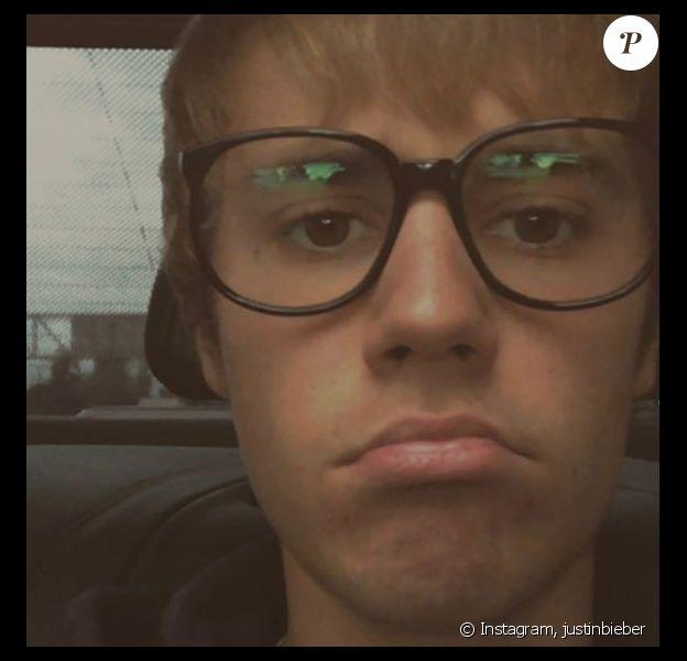 Justin Bieber a publié une selfie sur sa page Instagram le 9 février 2017