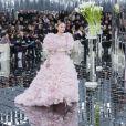 """Lily-Rose Depp au défilé de mode Haute Couture printemps-été 2017 """"Chanel"""" au Grand Palais à Paris le 24 janvier 2017. © Olivier Borde / Bestimage"""