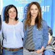 Vanessa Paradis et Cécilia Rouand à la première de Je me suis fait tout petit à Paris le 10 juillet 2012.