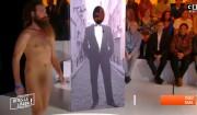 """Cyril Hanouna reçoit un nudiste sur C8, dans """"Dites-le à Baba', le 21 février 2017"""