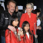 Johnny Hallyday : Laeticia, Jade et Joy joliment assorties, malgré une blessure